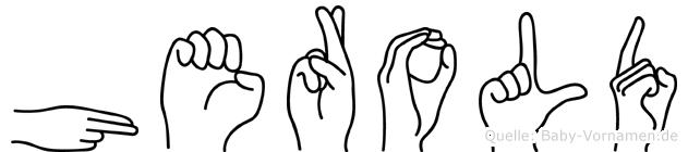 Herold in Fingersprache für Gehörlose