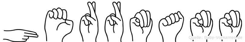 Herrmann im Fingeralphabet der Deutschen Gebärdensprache