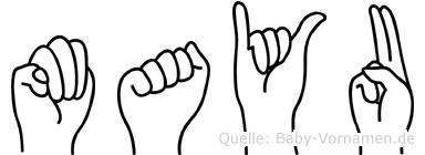Mayu in Fingersprache für Gehörlose