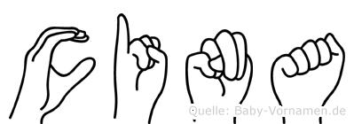 Cina in Fingersprache für Gehörlose