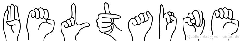 Beltaine im Fingeralphabet der Deutschen Gebärdensprache