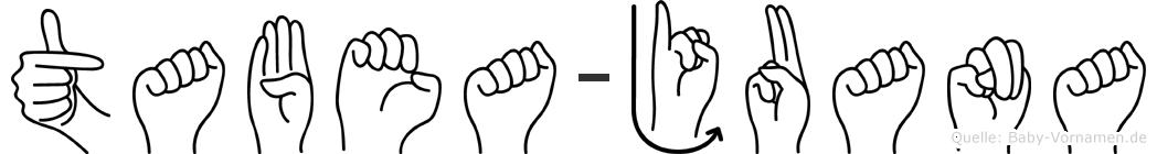 Tabea-Juana im Fingeralphabet der Deutschen Gebärdensprache