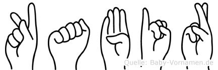 Kabir in Fingersprache für Gehörlose