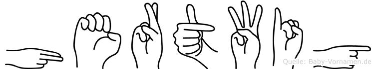 Hertwig im Fingeralphabet der Deutschen Gebärdensprache