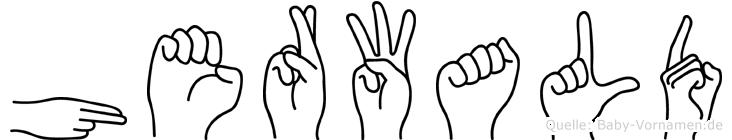 Herwald in Fingersprache für Gehörlose