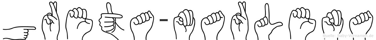 Greta-Marlena im Fingeralphabet der Deutschen Gebärdensprache