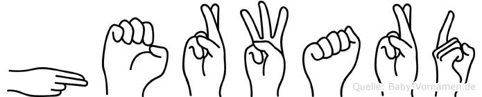 Herward in Fingersprache für Gehörlose