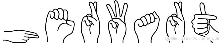 Herwart in Fingersprache für Gehörlose
