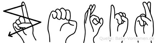 Zefir in Fingersprache für Gehörlose