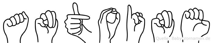 Antoine im Fingeralphabet der Deutschen Gebärdensprache
