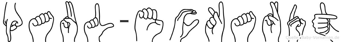 Paul-Eckardt im Fingeralphabet der Deutschen Gebärdensprache