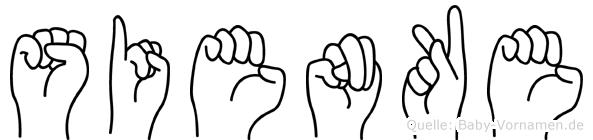 Sienke im Fingeralphabet der Deutschen Gebärdensprache