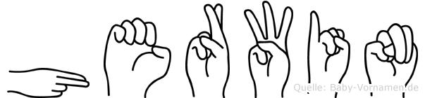 Herwin im Fingeralphabet der Deutschen Gebärdensprache