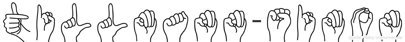 Tillmann-Simon im Fingeralphabet der Deutschen Gebärdensprache