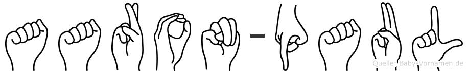 Aaron-Paul im Fingeralphabet der Deutschen Gebärdensprache