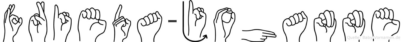 Frieda-Johanne im Fingeralphabet der Deutschen Gebärdensprache