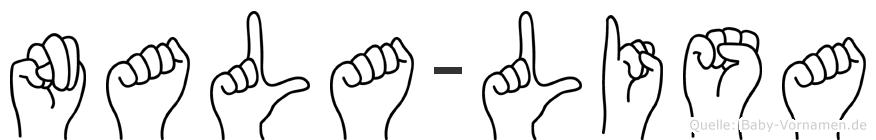 Nala-Lisa im Fingeralphabet der Deutschen Gebärdensprache
