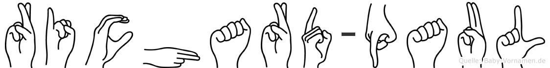 Richard-Paul im Fingeralphabet der Deutschen Gebärdensprache