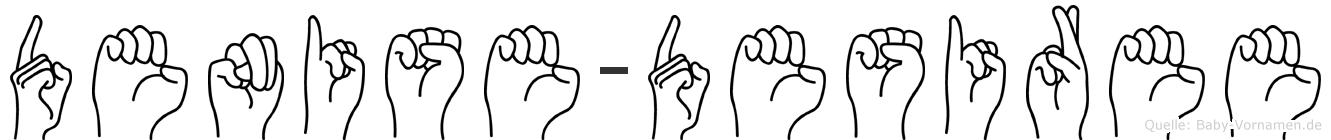 Denise-Desiree im Fingeralphabet der Deutschen Gebärdensprache