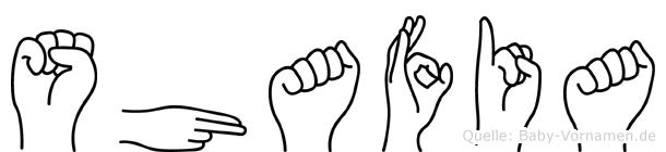 Shafia in Fingersprache für Gehörlose