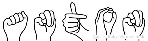 Anton in Fingersprache für Gehörlose