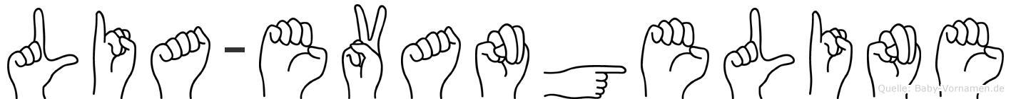 Lia-Evangeline im Fingeralphabet der Deutschen Gebärdensprache