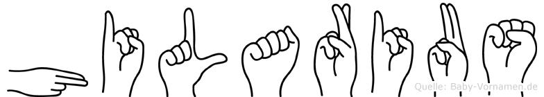 Hilarius in Fingersprache für Gehörlose