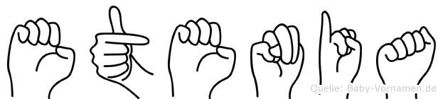 Etenia in Fingersprache für Gehörlose