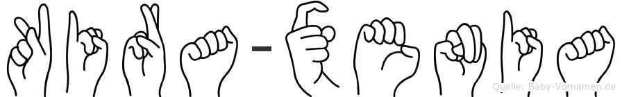 Kira-Xenia im Fingeralphabet der Deutschen Gebärdensprache