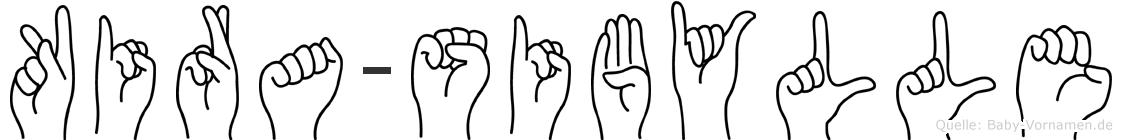 Kira-Sibylle im Fingeralphabet der Deutschen Gebärdensprache