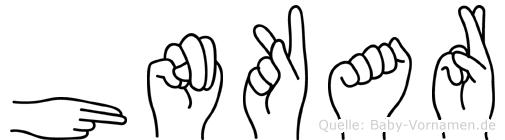 Hünkar im Fingeralphabet der Deutschen Gebärdensprache