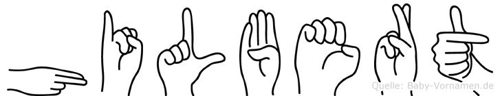 Hilbert im Fingeralphabet der Deutschen Gebärdensprache