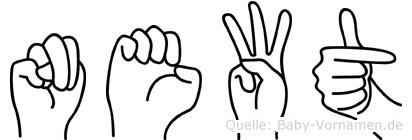 Newt in Fingersprache für Gehörlose