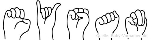 Eysan in Fingersprache für Gehörlose