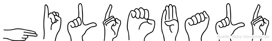 Hildebald im Fingeralphabet der Deutschen Gebärdensprache