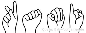 Kami im Fingeralphabet der Deutschen Gebärdensprache