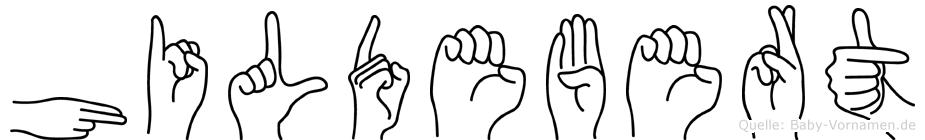 Hildebert in Fingersprache für Gehörlose