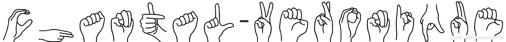 Chantal-Veronique im Fingeralphabet der Deutschen Gebärdensprache