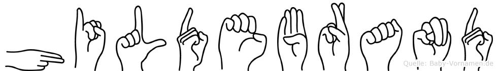 Hildebrand in Fingersprache für Gehörlose