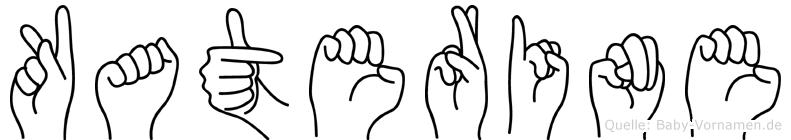 Katerine im Fingeralphabet der Deutschen Gebärdensprache