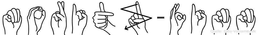 Moritz-Finn im Fingeralphabet der Deutschen Gebärdensprache