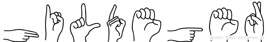 Hildeger in Fingersprache für Gehörlose