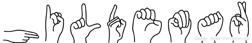 Hildemar in Fingersprache für Gehörlose