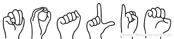 Noalie in Fingersprache für Gehörlose