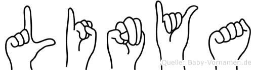 Linya in Fingersprache für Gehörlose