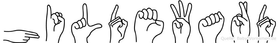 Hildeward im Fingeralphabet der Deutschen Gebärdensprache