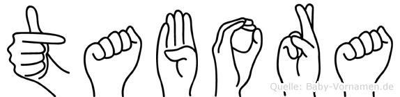 Tabora in Fingersprache für Gehörlose