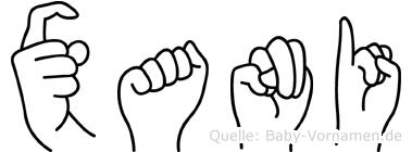Xani in Fingersprache für Gehörlose