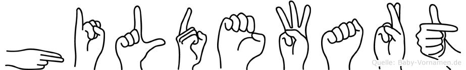 Hildewart in Fingersprache für Gehörlose