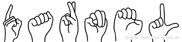 Darnel im Fingeralphabet der Deutschen Gebärdensprache